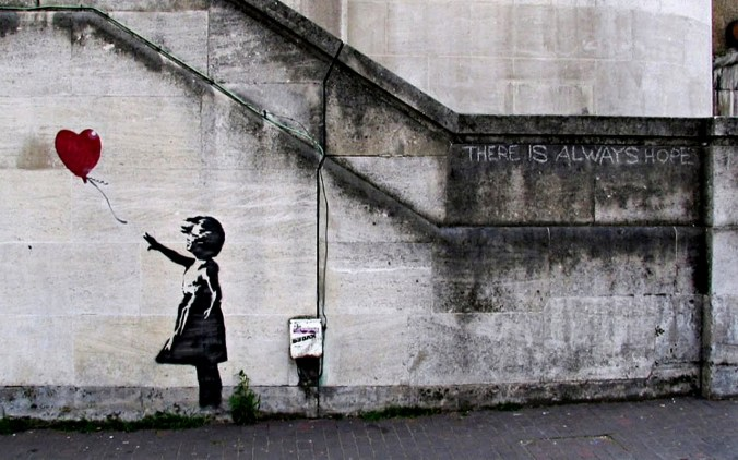 Image result for banksy there is always hope